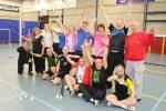 Geslaagd Husseltoernooi vrijwilligers Badminton Nederland